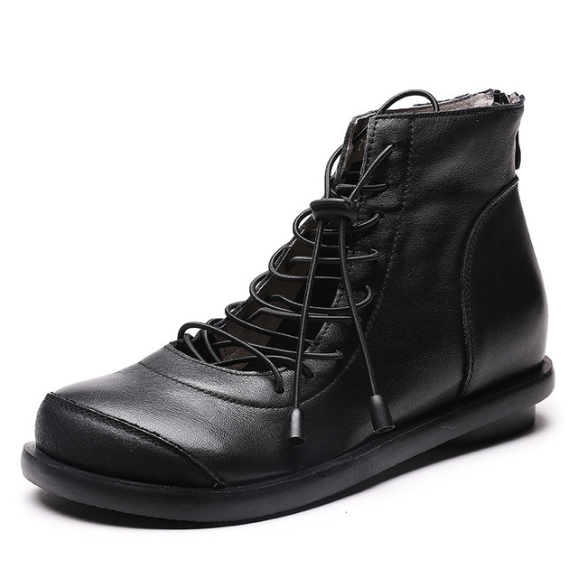 Women's Leather Spring Shoes