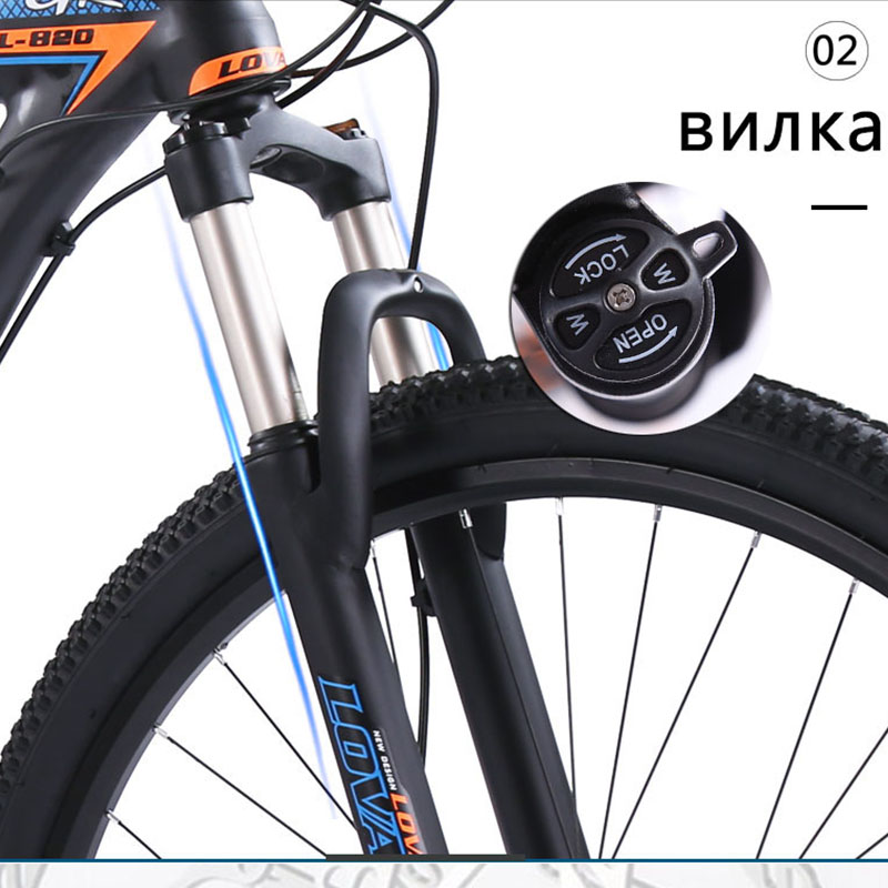 Image 4 - wolfs fang Bicycle Mountain bike 27speed 29 Inch Aluminum Alloy Road Bikes mtb bmx bicycles Dual disc brakes of Free shippingBicycle   -