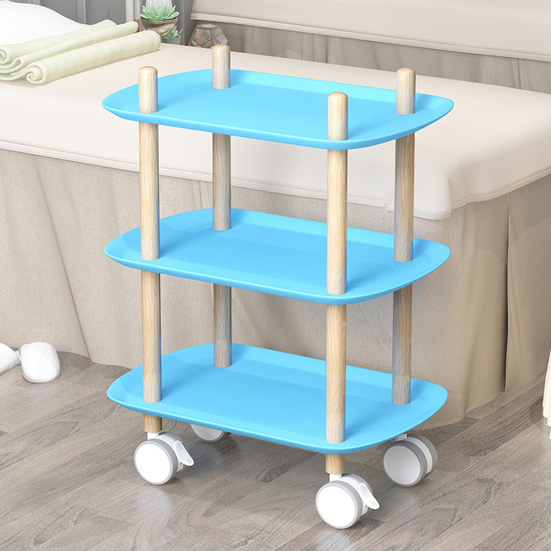 Beauty Parlor Mobile Cart Nail Salon Beauty Storage Multifunctional Cart Rack