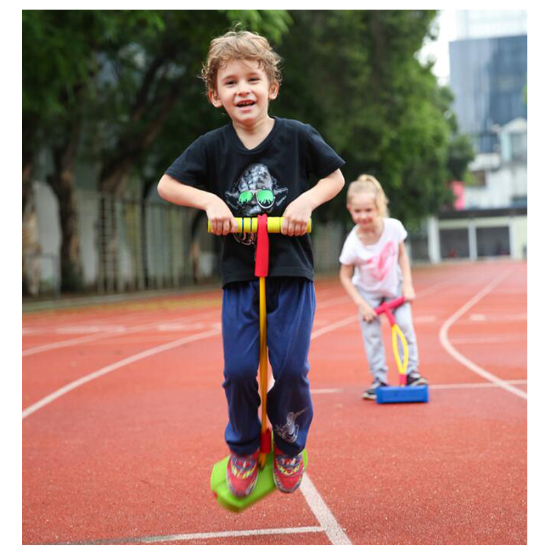 Kids Frog Jumper Foam Pogo Stick Kangaroo Jumping Shoes Outdoor Activities Sensory Toys For Children Fun Games