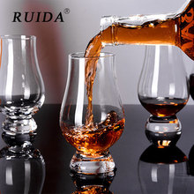 2Pcs/set Whiskey Glass Bourbon Rocks Scotch Glasses Wine Cup Liqueur White Spirits Shaped Crystal Clear Glassware for Bar