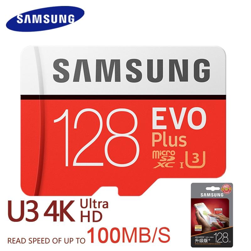 Samsung micro carte sd 32GB 64GB 128GB 256GB carte mémoire 100 mo/s tarjeta micro carte sd SDHC SDXC C10 U3 4K tf carte discount