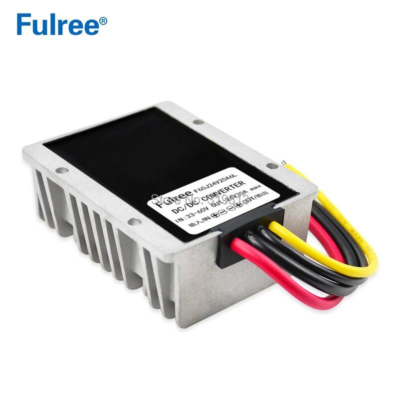 36V 48V 60V 54V 72V 84V à 24V 16A 20A 480W DC DC convertisseur de puissance abaisseur Module régulateur de tension alimentation du véhicule