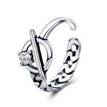 Настоящее серебро 925 пробы минималистичное винтажное белое циркониевое ажурное кольцо для женщин 2020 изысканные ювелирные аксессуары подар...