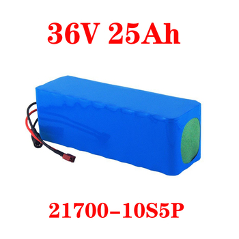 LiitoKala 36V 15Ah 20AH 25Ah 30Ah 500W Battery Electric Bike 36V Lithium ion Battery Pack with PVC Case with 30A BMS image