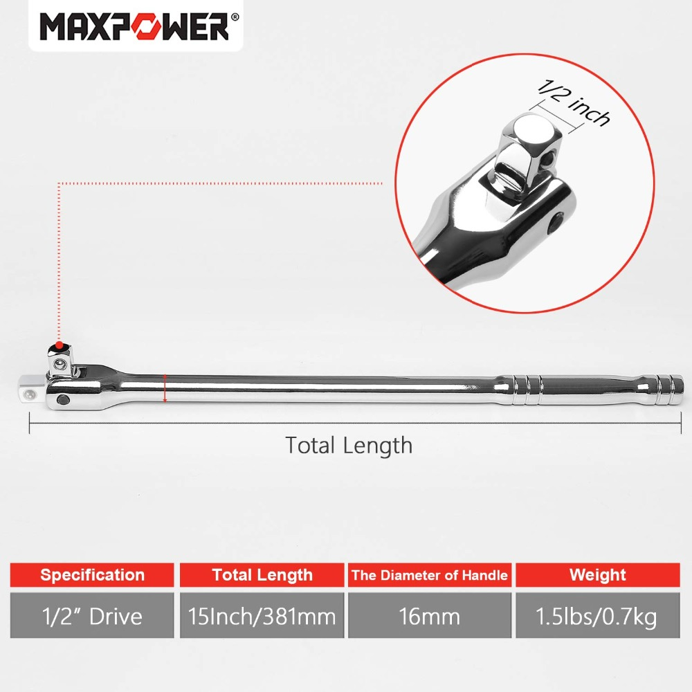 MAXPOWER 10-Inch Adjustable Wrench Forged and Hardened Heavy Duty Adjustable Nut Spanner Wrench Multitool Home DIY Assembly Bike Repair