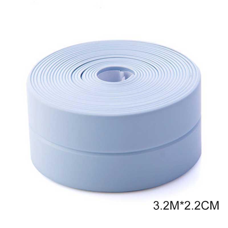 3,2 метров Ванная комната душ для раковины ванны уплотнительная лента Белая ПВХ самоклеющаяся Водонепроницаемая Наклейка на стену для ванной кухни - Цвет: Синий