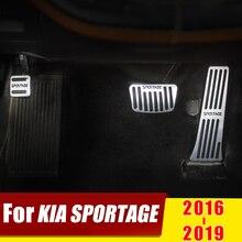 Для KIA SPORTAGE AT автомобильный Стайлинг педаль акселератора педаль тормоза подножка педали без сверления чехол Аксессуары