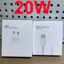 Original 20w para o iphone 12 carregador usb c c2l adaptador de viagem pd carregador rápido qc3.0 para apple cabo para iphone 12 pro max mini 11