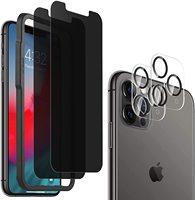 Pellicola salvaschermo in vetro temperato anti-spia per iPhone 13 Pro Max 2 vetro + 2 pellicola per obiettivo fotocamera + 1 cornice di installazione
