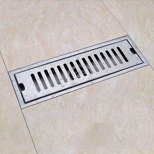 Большой водоизмещающий дезодорант трап для пола Слив для душа 304 нержавеющая сталь душ Трап для пола длинный канал Слив для отеля