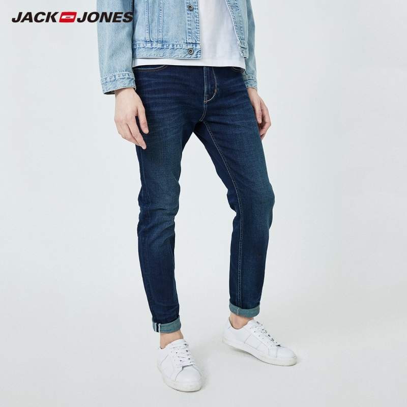 JackJones Men's Elastic Cotton Slim Fit Denim Pants Jeans 219332575
