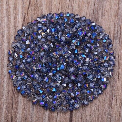 Яркие фиолетовые AB 4 мм 100 шт Австрийские хрустальные биконусные бусины 5301 свободные хрустальные бусы ожерелье браслет ювелирные изделия ручной работы S-61 - Цвет: 13