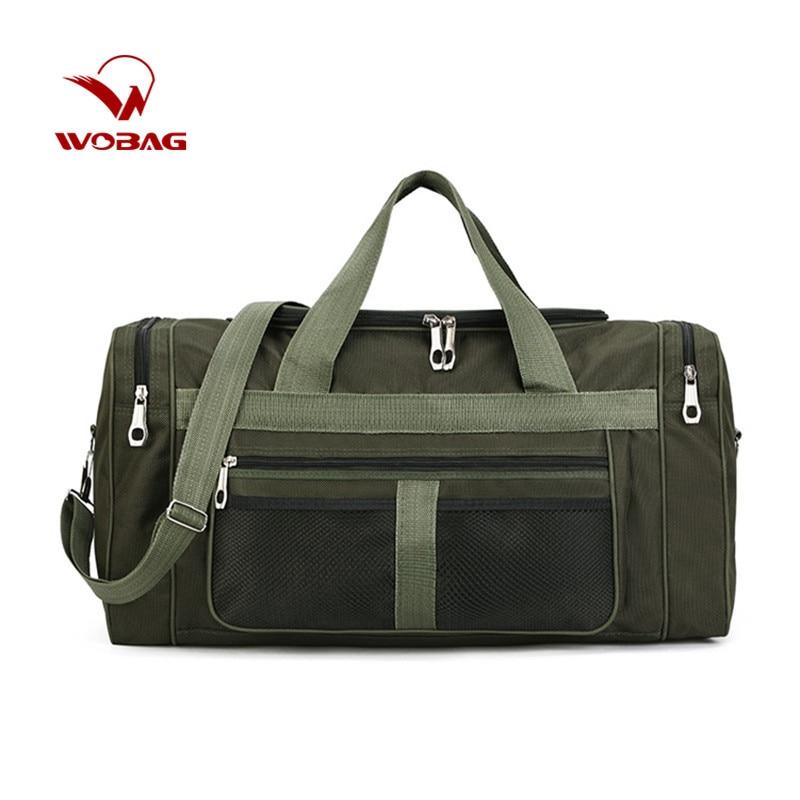 WOBAG Men Fashion Carry On Weekend Bags Waterproof Nylon Travel Handbag Casual Large Capacity Tote Crossbody Classic Handbag