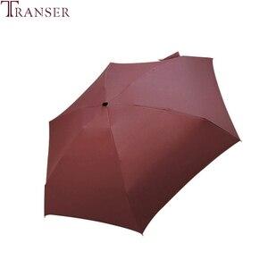 Image 5 - 전송 9 색 평면 경량 맑은 비오는 다섯 접는 우산 foldable suncreen 미니 우산 9905