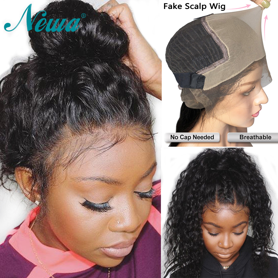 Newa 370 Lace Frontal Wig Pre Plucked With Baby Hair 150 Curly 13x6 Lace Front Human