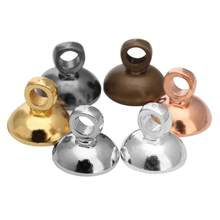100 unids/lote oro plata negro Color perla cobre Bases de colgantes conectores fianza tapa fit de 6mm 8mm cuentas de las mujeres resultados de la joyería de DIY