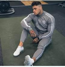 Conjuntos de ropa deportiva para Hombre, chándales de moda, sudaderas y pantalones de gimnasio, prendas de vestir informales, Chandal Completo, 2019