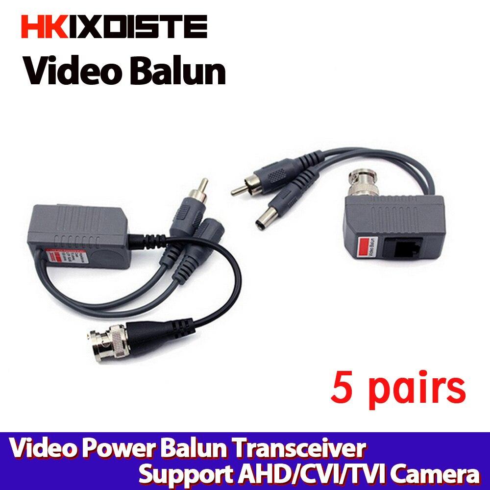 1CH Passive Video Power RJ45 Connectors Balun For CCTV Camera DVR Free Shipping