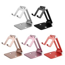 1pcs Phone Tablet Holder Stand Metal Phone Holder Foldable Mobile Phone Stand Desk For IPhone 11 Xiaomi Mi 9 IPhone 7 8 X XS