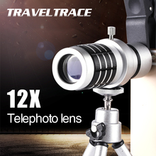 12x Universal HD Objective Optical Zoom Lens Telescope Telephoto Phone Camera Lens Clip For iPhone Android Mobile Cell Phones 12x optical zoom telescope camera lens w back case for samsung galaxy note 2 n7100 silver black