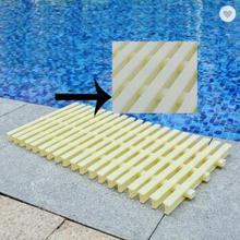 Плавательный бассейн сетки водяная сетка Нескользящая решетка раковина Bargeboard Слива прочный Пластик плавательный решетка переполнения бассейна