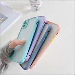 На Алиэкспресс купить чехол для смартфона lltct ins simple matte bumper phone case for iphone 11promax x xr xs max 6s 8plus 7 shockproof clear cover blurry transparent