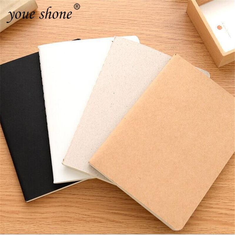 1pcs  Blank Solid Color Notebook Retro Plain Doodle Simple Portable Notebook Business Office Supplies Prizes YOUE SHONE