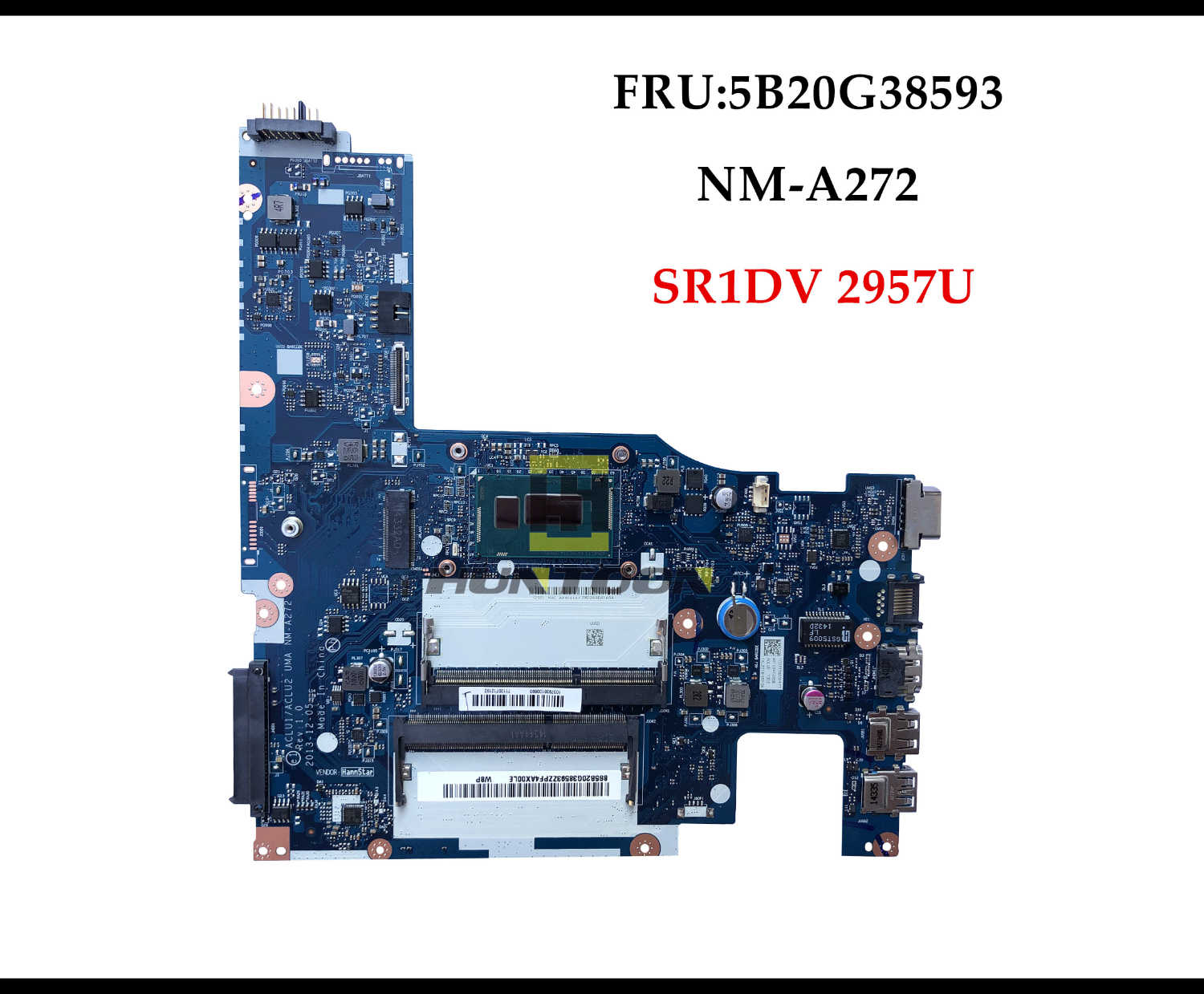 High quality ACLU1/ACLU2 UMA NM-A272 for Lenovo G50-70 Z50-70 Laptop Motherboard 5B20G38593 SR1DV 2957U DDR3L Fully Tested