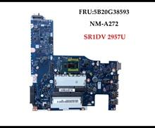 High quality ACLU1/ACLU2 UMA NM A272 for Lenovo G50 70 Z50 70 Laptop Motherboard 5B20G38593 SR1DV 2957U DDR3L Fully Tested