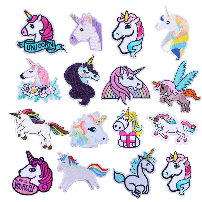 Patches Op Kleding Cartoon Eenhoorn Sticker Kwaliteit Naaien Badge Mooie Rugzak Kleding Kledingstuk Decoratie Decal Iron On Patches