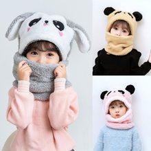 Bebê outono inverno chapéu e cachecol boné earmuffs chapéu quente para crianças pescoço e orelha