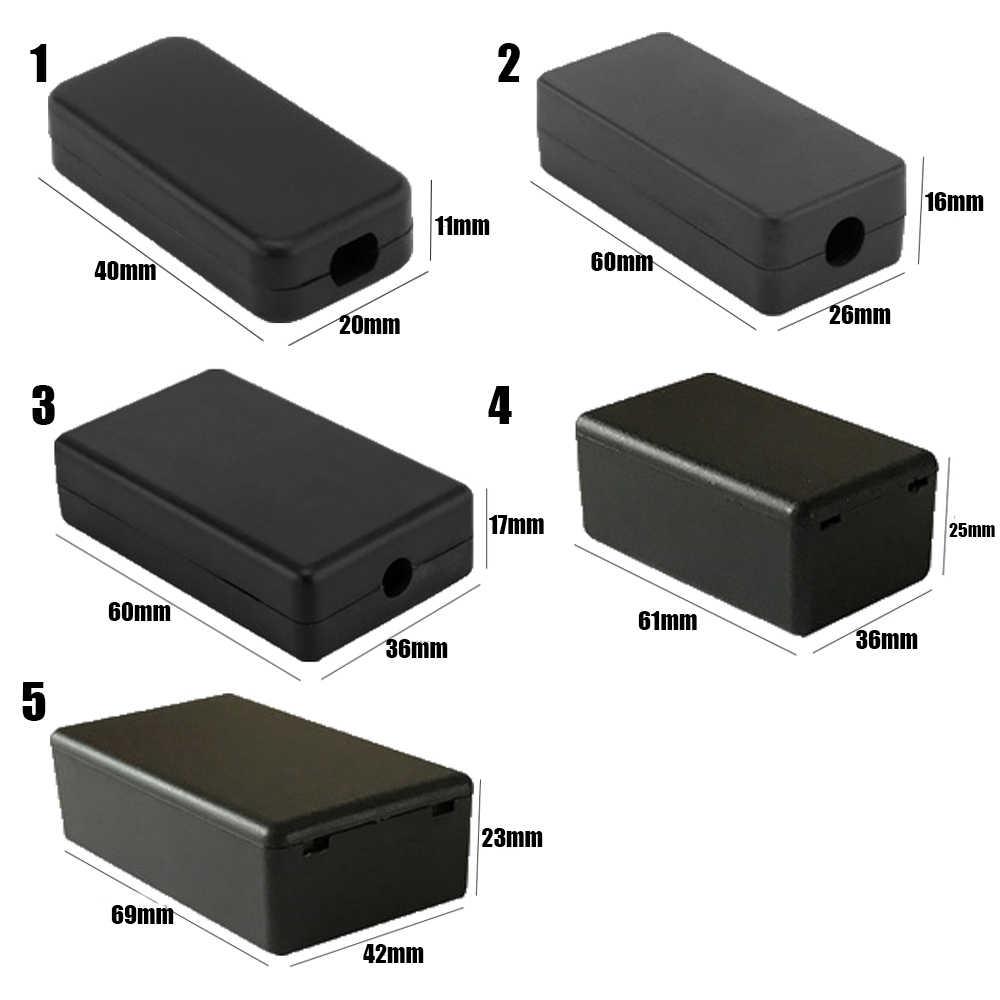1Pc Plastik Tahan Air Hitam DIY Perumahan Kasus Instrumen Plastik Elektronik Cover Proyek Listrik Storagecase Perlengkapan