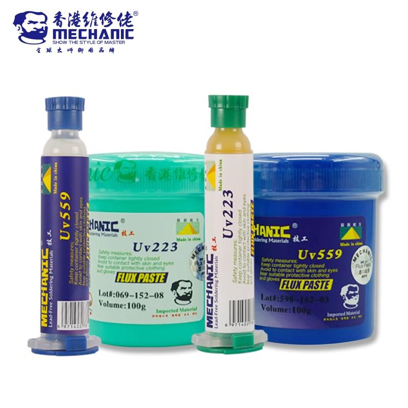 MECHANIC BGA Solder Paste Flux Lead-Free UV559 UV223 NO-Clean Soldering Flux Grease Welding Fluxes BGA Repair Tools