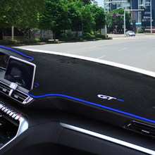 Car Dashboard Cover Mat Sun Shade Pad Instrument Panel Carpets Anti-UV For Peugeot 3008 5008 GT 2017 2018 2019 2020 Accessories