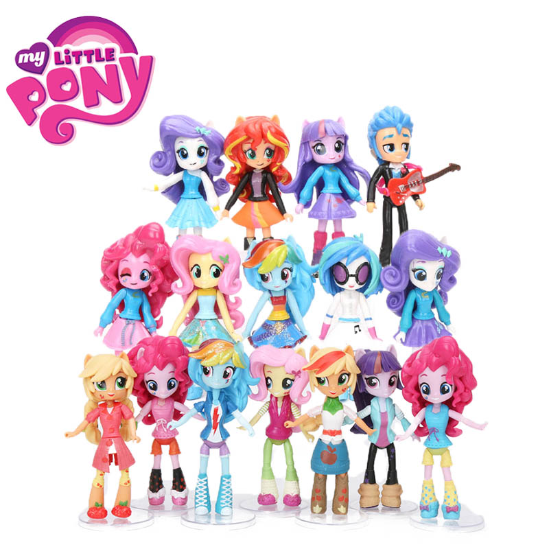 12cm 9pcs 7pcs My Little Pony Toys Friendship Is Magic Pony Figure Set Twilight Sparkle Rainbow Dash Fluttershy Model Doll Dolls