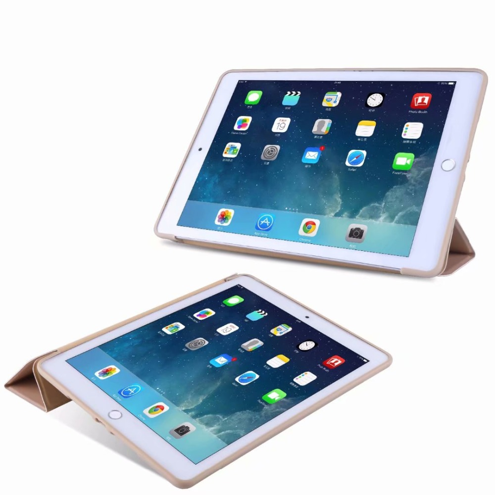 Smart light Cover Ipad 10.2 Case 2 iPad 10 Soft Case For TPU For Tablet Tri-fold Slim