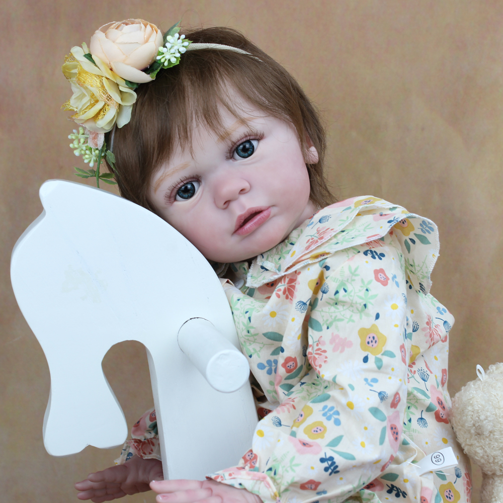 60 CM Real Touch Reborn Baby Girl Finished Tayra Doll Cloth Body Toy Realistic 24 Inch Soft Silicone Princess Toddler Alive Bebe