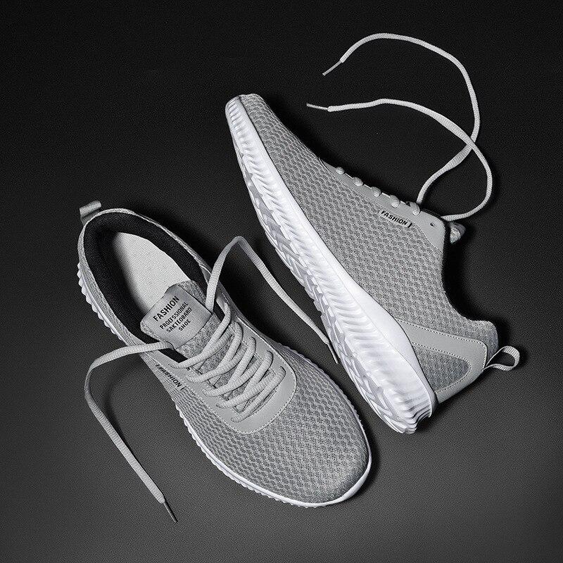 Кроссовки мужские сетчатые, легкие дышащие, повседневная обувь на плоской подошве, большие размеры 39-48, лето