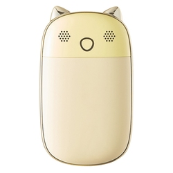 10000MAh USB akumulatorowy ogrzewacz rąk z rejestrator dźwięku szybkie ładowanie do ciepła Daylong ciepła zimna pogoda niezbędna żółta w Ogrzewacze do rąk od Dom i ogród na