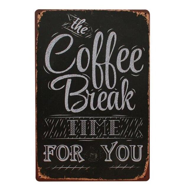 Menu kawy rocznika cafe plakietka emaliowana retro metalowa płyta malarstwo klasyczne żelaza obraz dekoracje ścienne do kawiarni