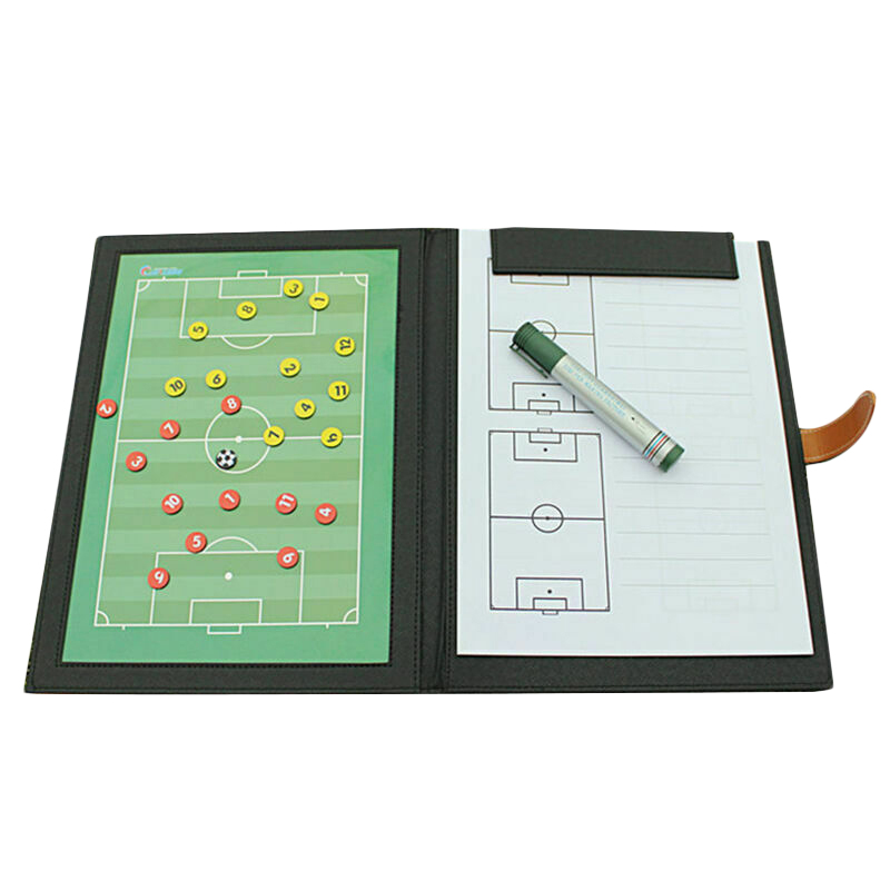 Coaching Board Foldable Football Tactic Board Magnetic Soccer Plate Book Set With Pen Clipboard Football Supplies