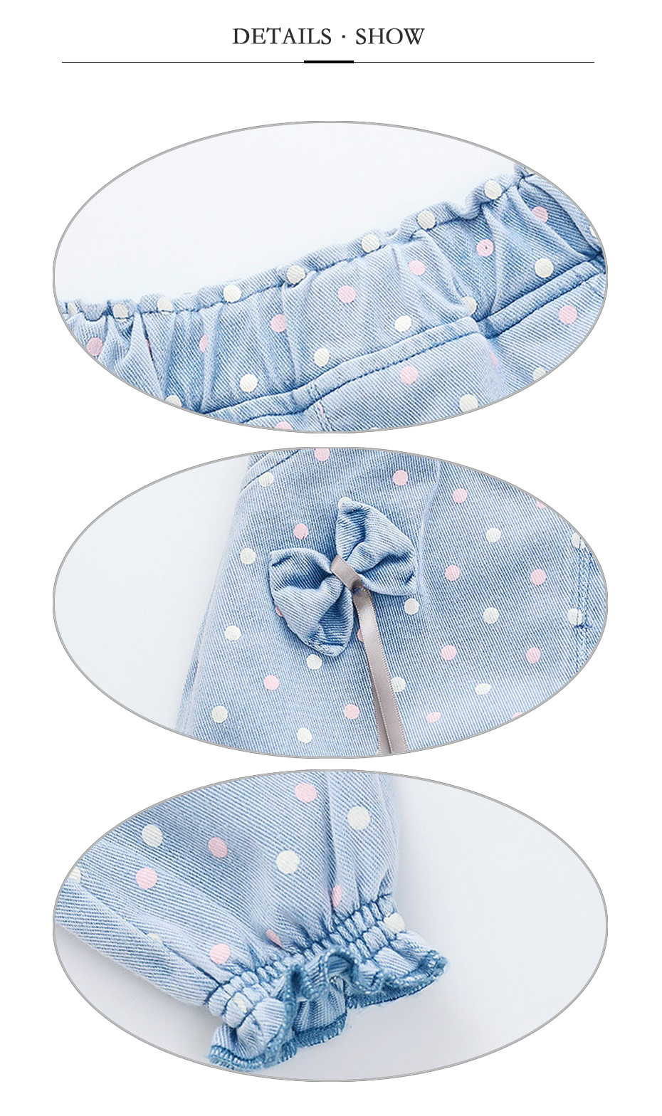 Jeans For Girls Full Dot Pattern Jeans Baby Bow Denim Jeans For Kids Girls Toddler Girl Clothes 12M TO 5