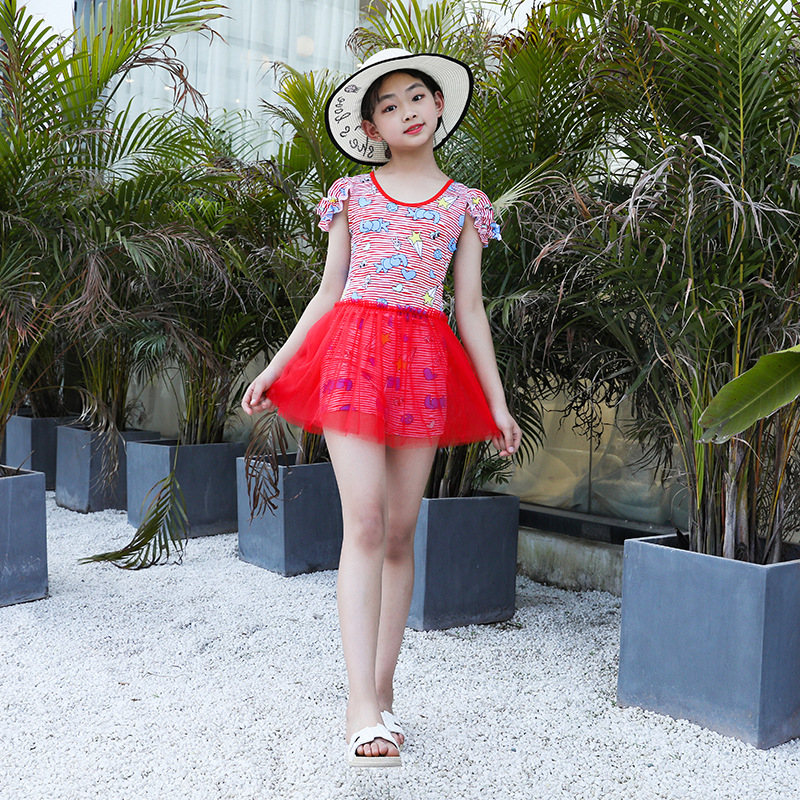 KID'S Swimwear GIRL'S Big Boy Princess Swimwear Dress-Baby Girls Bubble Hot Spring Tour Bathing Suit