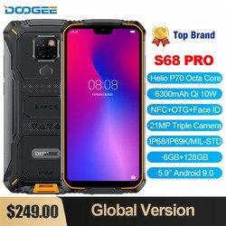 DOOGEE S68 Pro Водонепроницаемый Прочный телефон с восьмиядерным процессором Helio P70, ОЗУ 6 ГБ, ПЗУ 128 ГБ, 6300 мАч, 12 В, 2 А