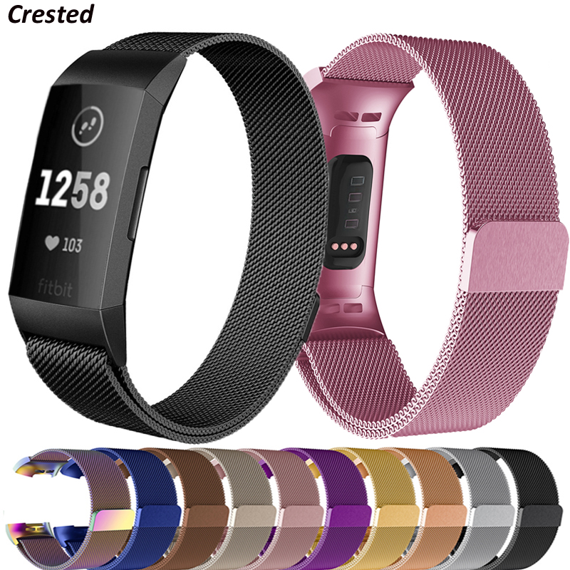 Milanese loop For fitbit charge 3 band replacement charge4 wristband stainless steel watch bracelet strap fitbit charge 4 band 1