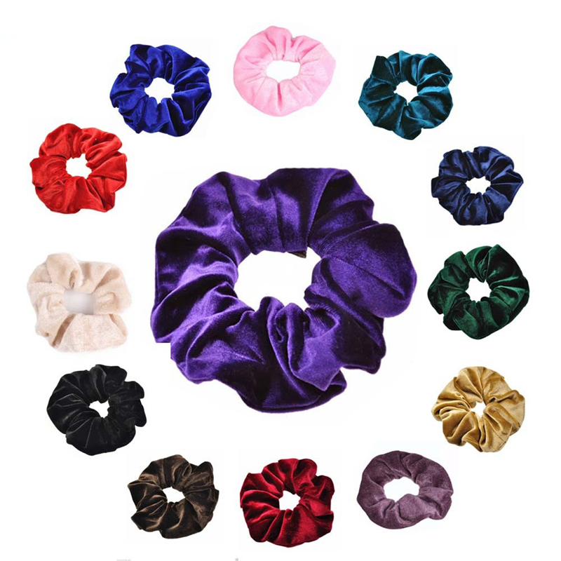 1pcs Velvet HeadwearTrendy Lady Elastic Hair Scrunchie Ponytail Hair Band Holder Hair Styling Accessories