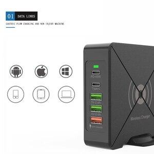 Image 1 - Có Cổng USB Sạc Điện Thoại Di Động 75W QC3.0 Laptop Nhanh Điện Dock Nhanh Chóng Sạc Wirless Sạc Loại C PD 45W Cổng