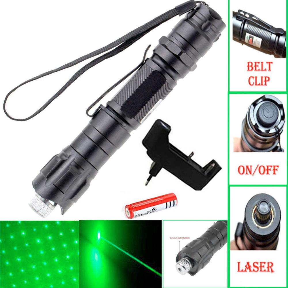 Green laser pointer High powerful 5mw lasers pen Rifle Scope Adjustable lazer Military Accessories