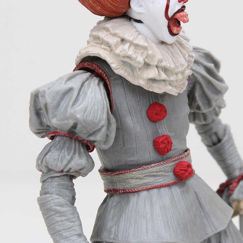 18cm NECA 스티븐 킹스 페니 와이즈 조커 어릿 광대 풍선 PVC 액션 피규어 소장 모델 장난감